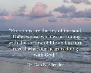 Emotions are the cry of the soul