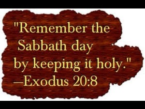 sabbath day holy